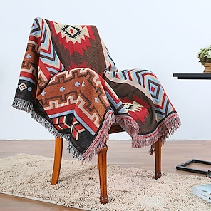 billiga -soffa filt lock handduk slipcover sektion soffa fåtölj loveseat 4 eller 3 sits l form tofs boho bohemian abstrakt mjuk hållbar
