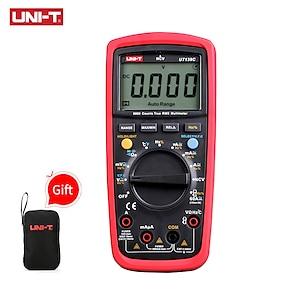 billiga -uni-t ut139c enhet digital multimeter auto räckvidd sant rms mätare kondensator testare handhållen 6000 count voltmeter temperatur