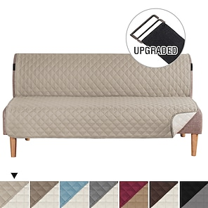 abordables -futon sofa slipcover reversible sofa cover armless futon cover furniture protector sofa cover water resistente pets kids children dog cat