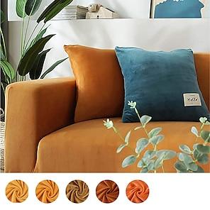 abordables -funda de sofá fundas elásticas fundas suaves y duraderas funda de sofá 1 pieza spandex tela de terciopelo lavable protector de muebles sillón de dos plazas