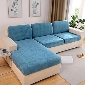 olcso -nyújtható kanapé üléspárnahuzat slipcover rugalmas kanapé fotel loveseat 4 vagy 3 üléses tömör jacquard nagy rugalmasság négy évszak univerzális szuper puha szövet retro forró eladó