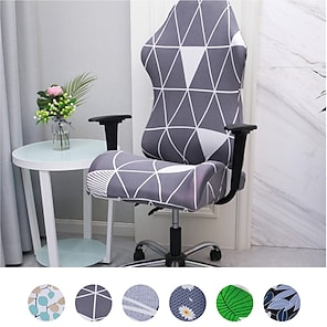 billiga -split gaming chair covers tryckt stretch dator game chair slipcover för läder office game reclining racing ruffled gamer chair protector