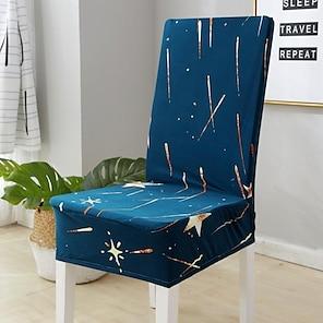 billige -stretch kjøkken stol deksel slipcover for dinning party galaxy foureasons universal super soft fabric retro hot sale
