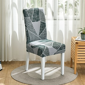 Недорогие -эластичный чехол для кухонного стула, чехол для столовой, геометрический плед, высокая эластичность, модная печать, четыре сезона, универсальная супер мягкая ткань, ретро, горячая распродажа