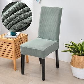 baratos -esticar cadeira de cozinha cobrir slipcover jacquard para jantar festa verde claro pequeno quadrado macio confortável firme elegante cadeiras