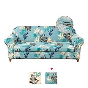 baratos -1 conjunto de 2 peças com estampas florais estampadas para sofá, capa protetora de sofá inclui capa de almofada de assento individual para 1 ~ 4 lugares de almofada para sala de estar lavável à