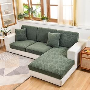 billige -stretch sofa sædepudebetræk slipcover elastisk sofa lænestol loveeat 4 eller 3 personers solid jacquard høj elasticitet fire sæsoner universal super blødt stof retro hot salg