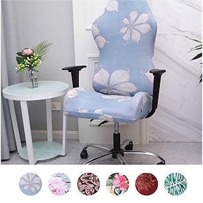 baratos -Capas ergonômicas para cadeiras de jogos de computador de escritório capas de poliéster elástico florais para cadeiras de jogos de corrida reclináveis (sem cadeira)