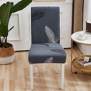baratos -capa extensível de capa de cadeira de cozinha para jantar de festa de desenho animado pena quatro temporadas tecido super macio universal venda quente retrô