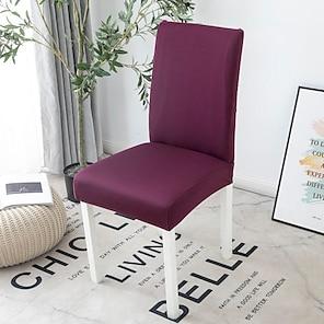 رخيصةأون -تمتد المطبخ غطاء كرسي الغلاف لحفلات الطعام الصلبة مرونة عالية أربعة مواسم عالمية سوبر لينة النسيج الرجعية رائجة البيع