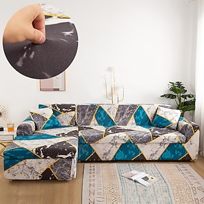 billige -stretch sofa cover slipcover elastisk sectional sofa lenestol loveseat 4 eller 3 seter l form geometrisk