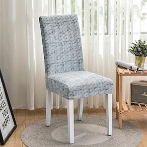 billige -Køkken stol betræk Geometrisk Trykt Polyester Møbelovertræk