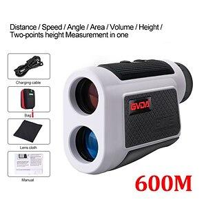 billiga -gvda gd600a teleskop laser avståndsmätare 6x laser avståndsmätare måttband 600m avståndsmätare för golf jakt sport