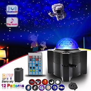 abordables -Projecteur lumière télécommandé rotatif projecteur led couleurs dimmables fête de noël mariage rouge
