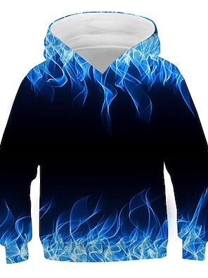cheap Tops-Kids Boys' Hoodie & Sweatshirt Long Sleeve Graphic 3D Print Purple Red Green Children Tops Active New Year