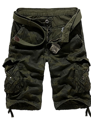 cheap Basic Shorts & Pants-men's cargo shorts Half Trousers Casual Camo Tactical Shorts multi pockets over knee outdoor wear khaki 40
