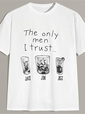 cheap For Men-Men's Unisex T shirt Hot Stamping Letter Plus Size Print Short Sleeve Casual Tops 100% Cotton Casual Fashion White