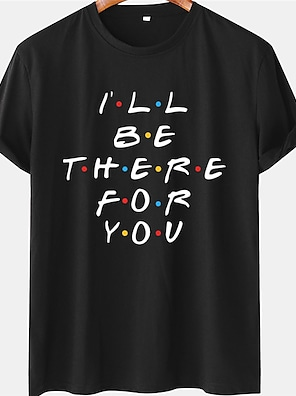 cheap For Men-Men's Unisex Tee T shirt Hot Stamping Text Graphic Prints Plus Size Short Sleeve Casual Tops 100% Cotton Basic Designer Big and Tall White Black