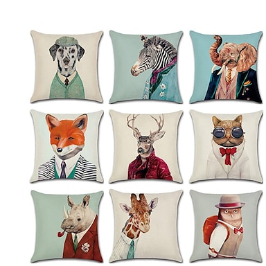 cheap Cushion Covers-Cushion Cover 1PC Linen Soft Decorative Square Throw Pillow Cover Cushion Case Pillowcase for Sofa Bedroom  Superior Quality Mashine Washable Pack of 1 Outdoor Cushion for Sofa Couch Bed Chair