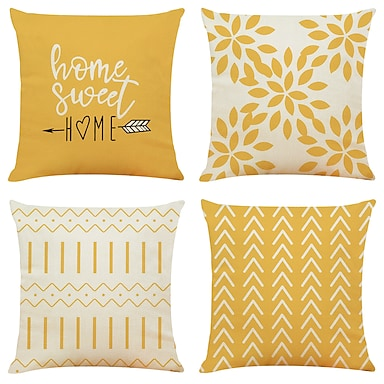 cheap Cushion Covers-Cushion Cover 4PC Linen Soft Decorative Square Throw Pillow Cover Cushion Case Pillowcase for Sofa Bedroom Superior Quality Outdoor Cushion for Sofa Couch Bed Chair