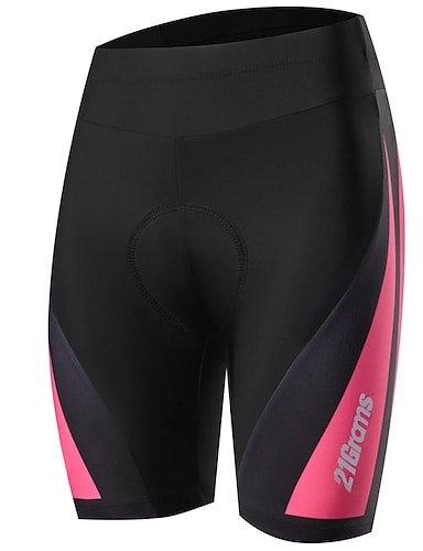 cheap Sports & Outdoors-21Grams Women's Cycling Padded Shorts Bike Pants Bottoms Breathable Quick Dry Sports Solid Color Black / Pink Mountain Bike MTB Road Bike Cycling Clothing Apparel Bike Wear / Stretchy