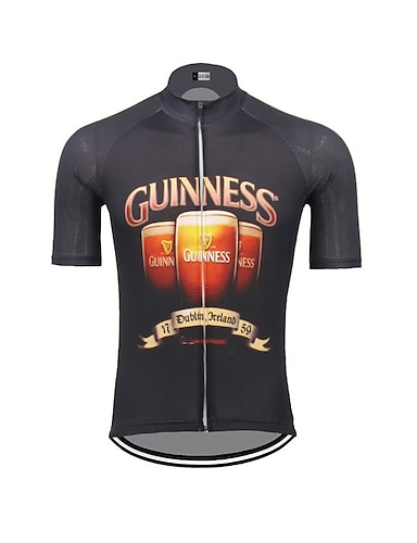 cheap Sports & Outdoors-21Grams Men's Short Sleeve Cycling Jersey Summer Spandex Polyester Dark Navy Oktoberfest Beer Bike Jersey Top Mountain Bike MTB Road Bike Cycling UV Resistant Quick Dry Breathable Sports Clothing