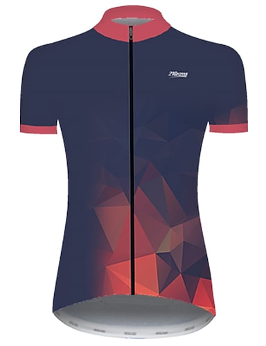 cheap Sports & Outdoors-21Grams Women's Short Sleeve Cycling Jersey Summer Nylon Polyester Red+Blue Gradient Solid Color 3D Bike Jersey Top Mountain Bike MTB Road Bike Cycling Ultraviolet Resistant Quick Dry Breathable