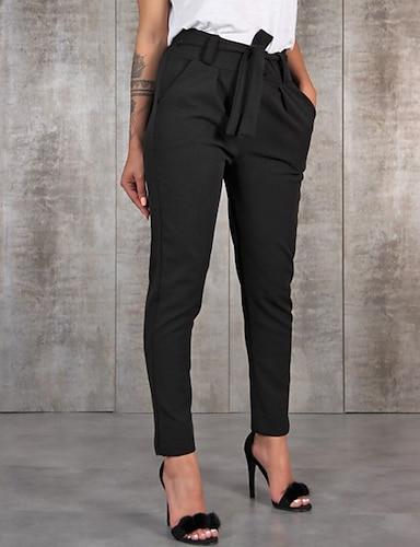 cheap Women's Bottoms-Women's Classic & Timeless Chic & Modern Skinny Daily Work Pants Zipper Pocket Black khaki Green