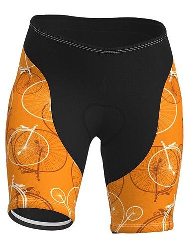 cheap Sports & Outdoors-21Grams Women's Cycling Shorts Summer Spandex Polyester Bike Shorts Pants Padded Shorts / Chamois 3D Pad Quick Dry Moisture Wicking Sports Yellow Mountain Bike MTB Road Bike Cycling Clothing Apparel