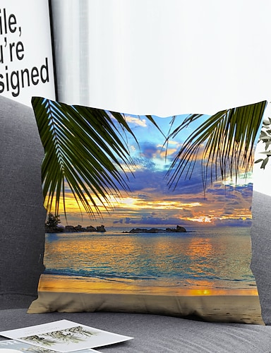 cheap Home & Garden-1 pcs Polyester Pillow Cover Pillow Cover & Insert Simple Classic Square Zipper Polyester Traditional Classic
