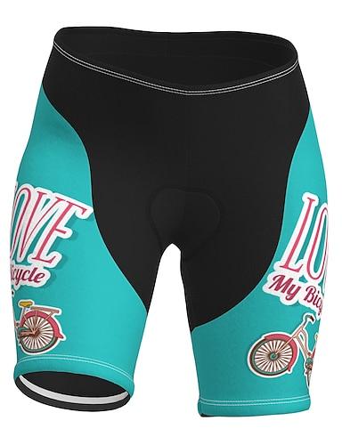 cheap Sports & Outdoors-21Grams Women's Cycling Shorts Summer Spandex Polyester Bike Shorts Pants Padded Shorts / Chamois 3D Pad Quick Dry Moisture Wicking Sports Blue Mountain Bike MTB Road Bike Cycling Clothing Apparel