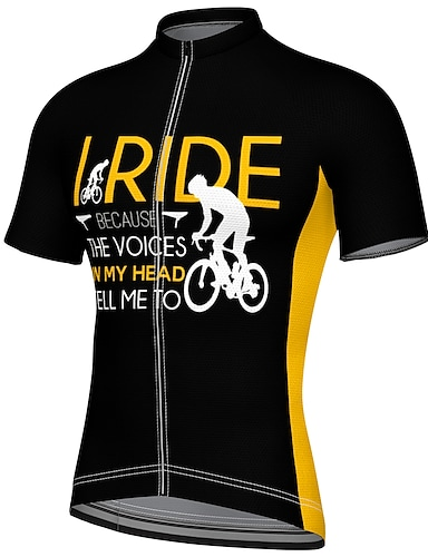 cheap Sports & Outdoors-21Grams Men's Short Sleeve Cycling Jersey Summer Spandex Polyester Black Bike Jersey Top Mountain Bike MTB Road Bike Cycling Quick Dry Moisture Wicking Breathable Sports Clothing Apparel / Athleisure