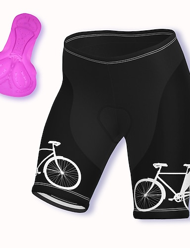 cheap Cycling Pants, Shorts, Tights-21Grams Women's Cycling Shorts Summer Spandex Polyester Bike Shorts Pants Padded Shorts / Chamois 3D Pad Breathable Sports Blue / Yellow / Blushing Pink Mountain Bike MTB Road Bike Cycling Clothing