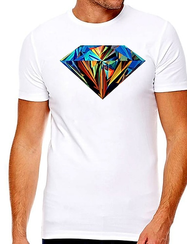 cheap Graphic Tees-Men's Unisex Tee T shirt Hot Stamping Graphic Graphic Prints Plus Size Print Short Sleeve Casual Tops Cotton Basic Designer Big and Tall White