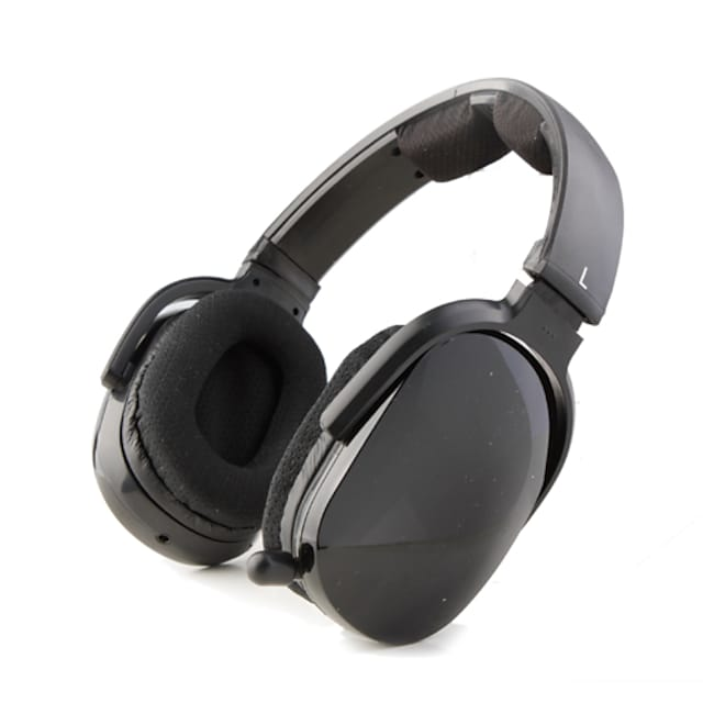 Sporty MP3 Player Stereo Headphones + FM Radio (Black)