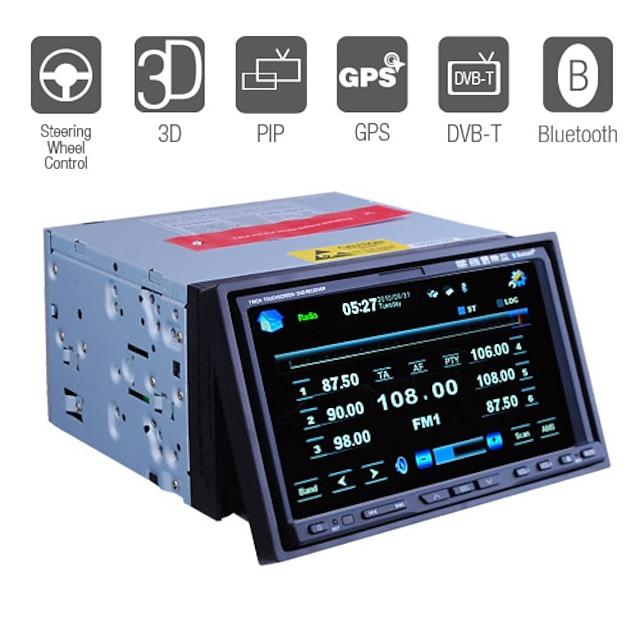 7 Inch 2Din Car DVD Player with GPS IPOD Bluetooth DVB-T RDS PIP 3D