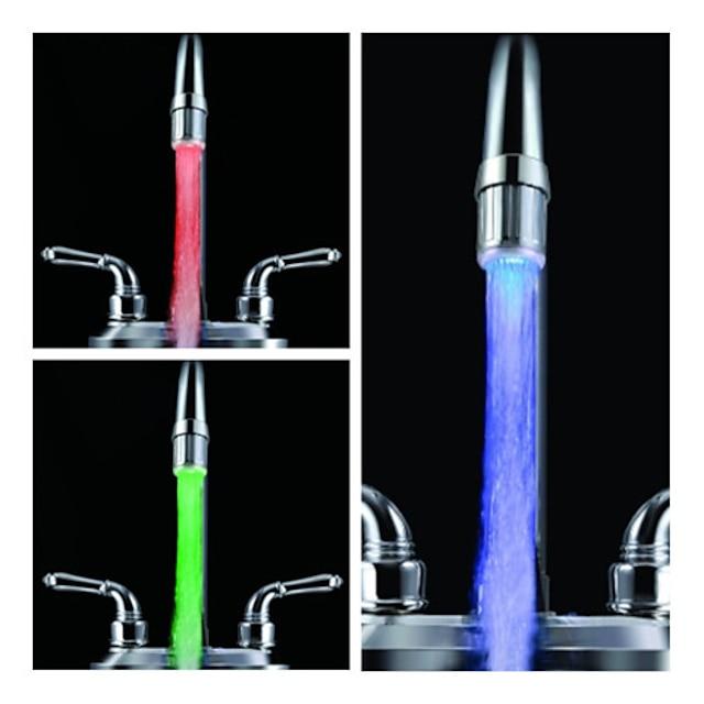 siedem kolorów lampa led z czujnikiem temperatury kranu;