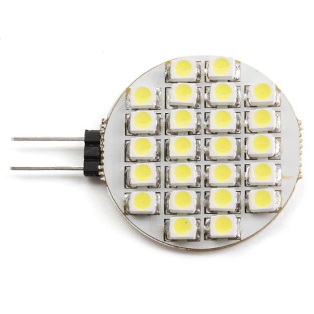 2 W Spoturi LED 6000 lm G4 24 LED-uri de margele SMD 3528 Alb Natural 12 V