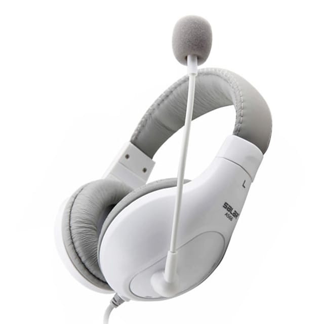 Salar A566 Headphone 3.5mm Over Ear Comfort Bass Stereo Gaming and Skype with Microphone for Computer