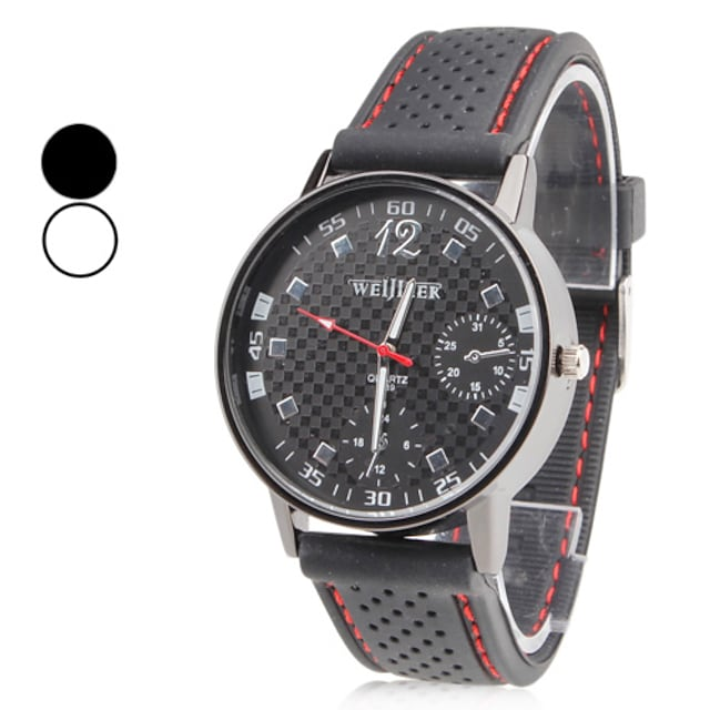Homens Relógio de Pulso Japanês Quartzo Silicone Preta Relógio Casual Analógico Amuleto Clássico - Branco Preto Um ano Ciclo de Vida da Bateria / SSUO SR626SW