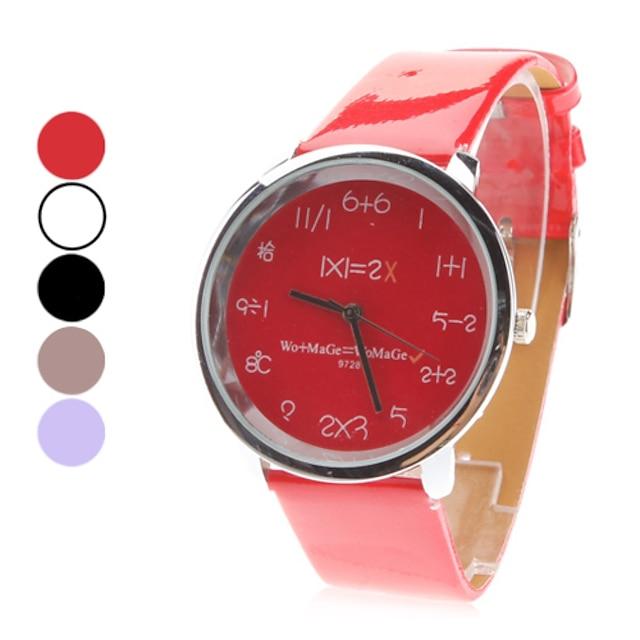 donne pu analogico al quarzo orologio da polso (colori assortiti)