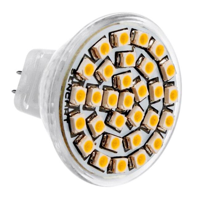 1pc 3 W LED Spotlight 3500 lm MR11 30 LED Beads SMD 3528 Warm White 12 V