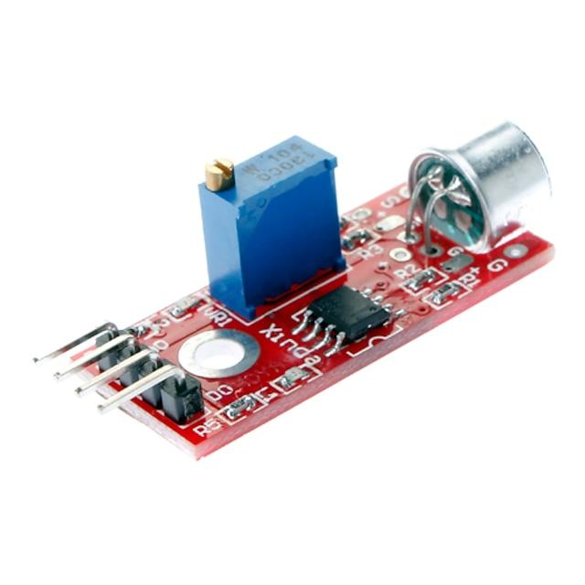 고품질 (Arduino를위한) 마이크 음향 탐지 센서 모듈 - 블루 + 레드