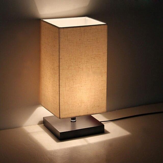 lampe de table minimaliste en bois massif table de chevet lampe de table de chevet avec abat-jour en tissu lin pour salon chambre