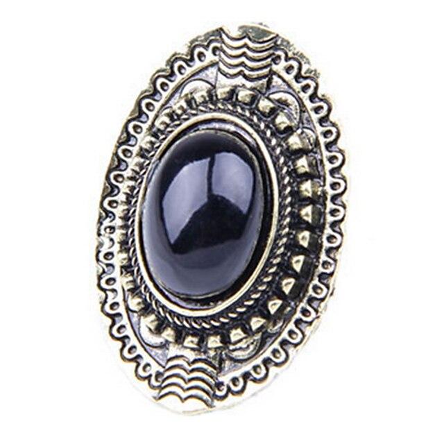 Dames Edelsteen Legering Europees Modieuze ringen Sieraden Zwart / Blauw / Roze Voor Causaal 8