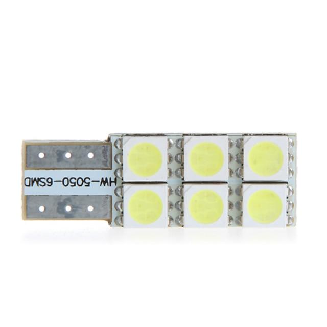 T10 W5W 194 168 6 5050 SMD White LED Car Side Wedge Light Lamp Bulb