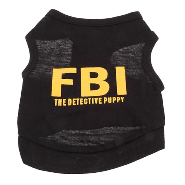 Câine Tricou Polițist / Militar Literă & Număr Modă Nuntă Îmbrăcăminte Câini Haine pentru catelus Ținute pentru câini Respirabil Negru / Galben Negru Galben Costum pentru fată și câine băiat Bumbac