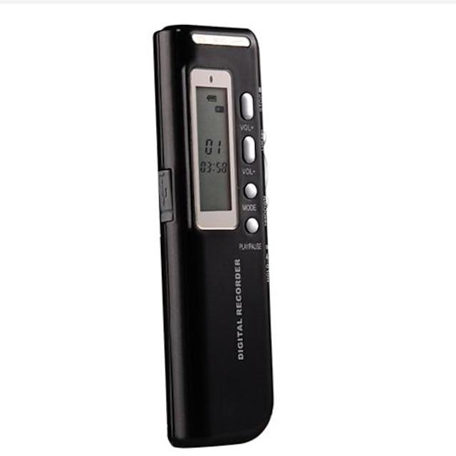 4G MP3 Digital Voice Recorder Zwart