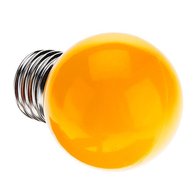 1 buc 0.5 W Bulb LED Glob 50 lm E26 / E27 G45 7 LED-uri de margele Dip LED Decorativ Galben 220-240 V / RoHs