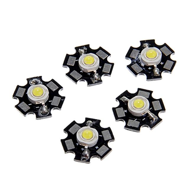 zdm® 5pcs ad alte prestazioni led / alto potere led cood bianco 6000-6500k 100-120 lm 3 v accessorio lampadina alluminio / filo d'oro puro led led chip per fai da te led riflettore luce di inondazione